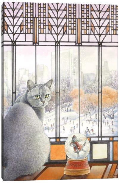 New Year With Mumu Canvas Art Print
