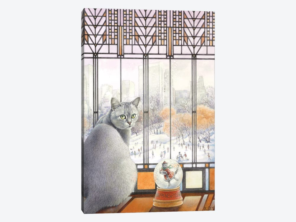 New Year With Mumu by Ivory Cats 1-piece Canvas Artwork