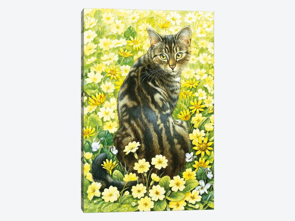 Octopussy In Spring Flowers by Ivory cats 1-piece Canvas Wall Art