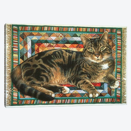 Octopussy On Triangles Canvas Print #IVR39} by Ivory cats Canvas Wall Art