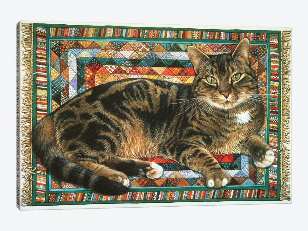 Octopussy On Triangles by Ivory Cats 1-piece Canvas Print