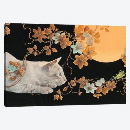 Ra-Ra & The Grasshopper Canvas Print #IVR42} by Ivory Cats Art Print
