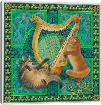 St Patrick's Day With Dandelion & Christie Canvas Art Print