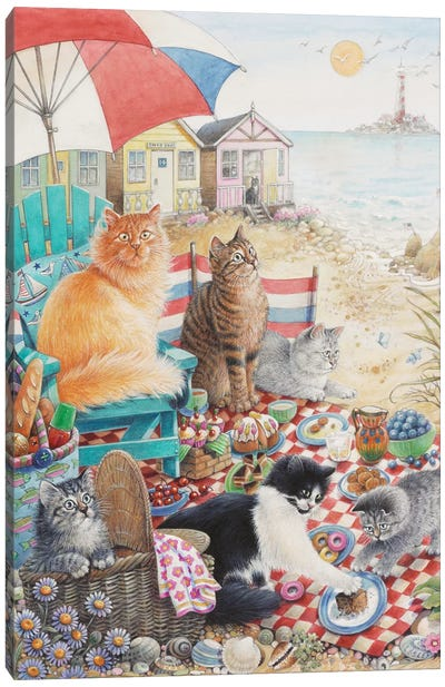 Summer Picnic With Dandelion Zelly & Mumu Canvas Art Print