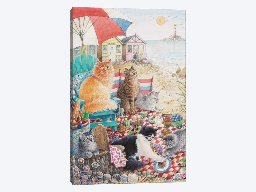 Summer Picnic With Dandelion Zelly & Mumu by Ivory Cats 1-piece Canvas Artwork