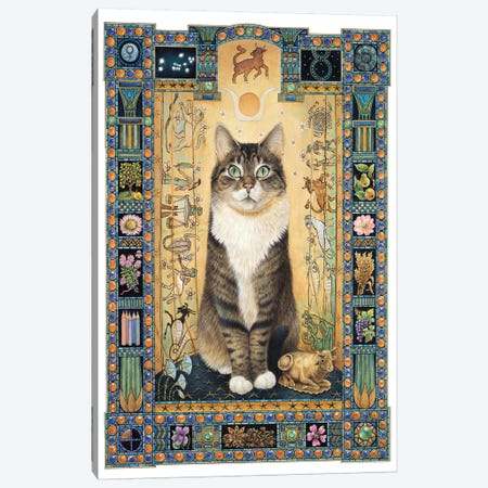 Taurus - Gemma Canvas Print #IVR48} by Ivory Cats Art Print