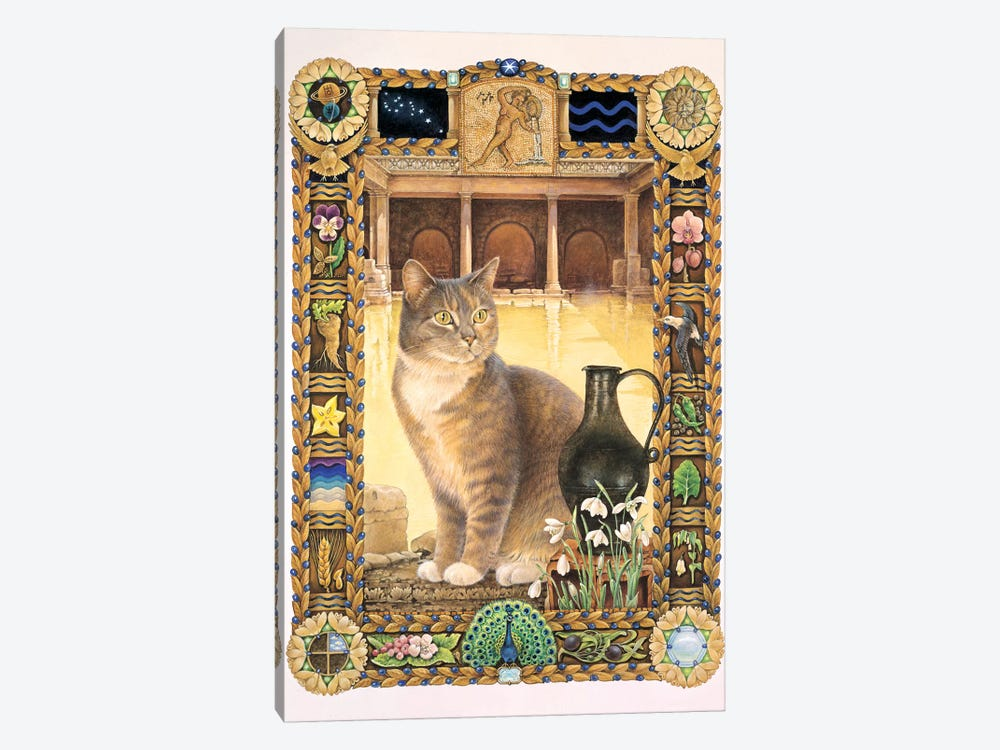 Aquarius - Sappho by Ivory Cats 1-piece Canvas Art Print