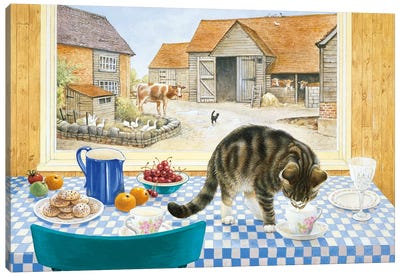 Twiglet On The Table Canvas Art Print