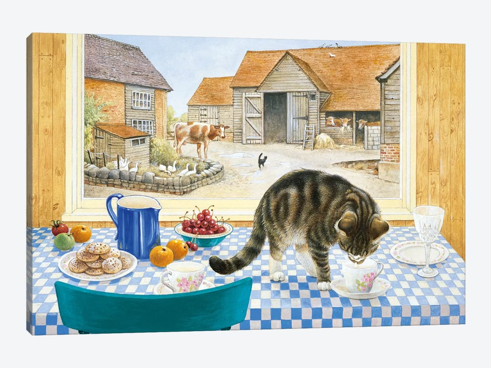 Twiglet On The Table by Ivory Cats 1-piece Canvas Artwork