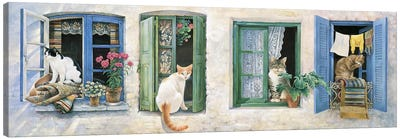 Two Greek Cats Canvas Art Print