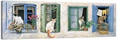 Two Greek Cats Canvas Art Print