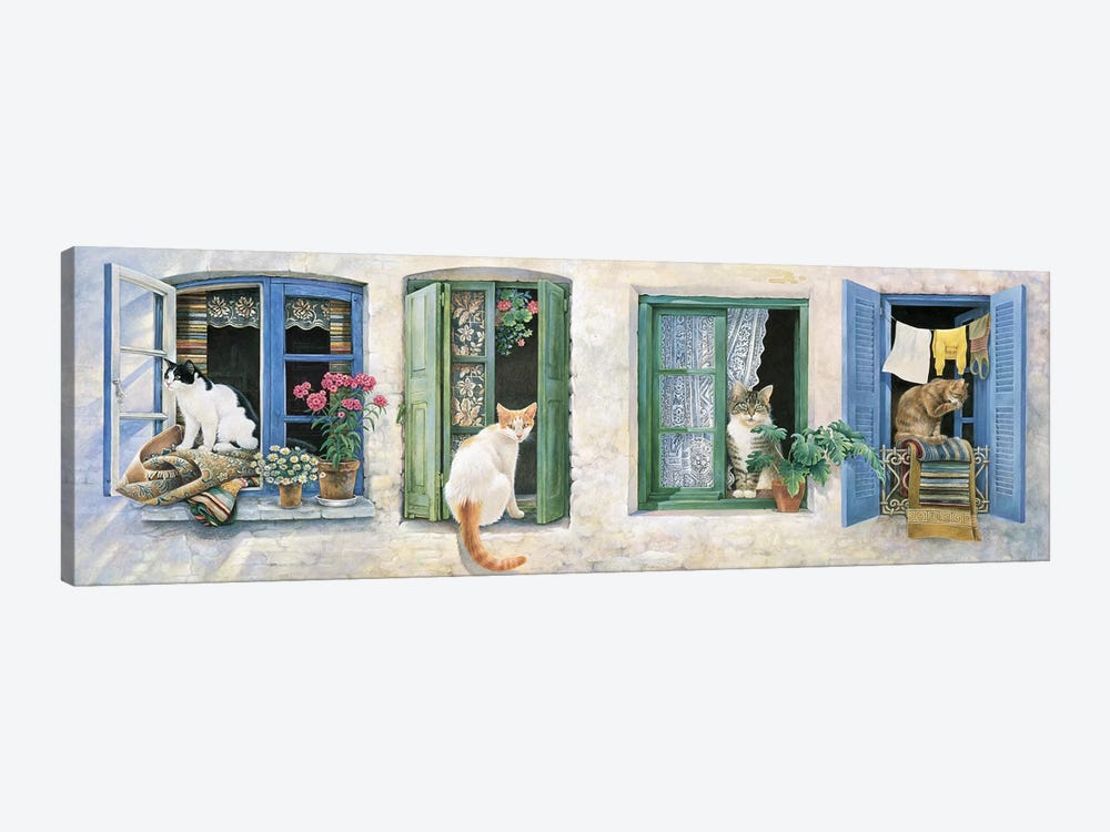 Two Greek Cats by Ivory Cats 1-piece Canvas Art Print