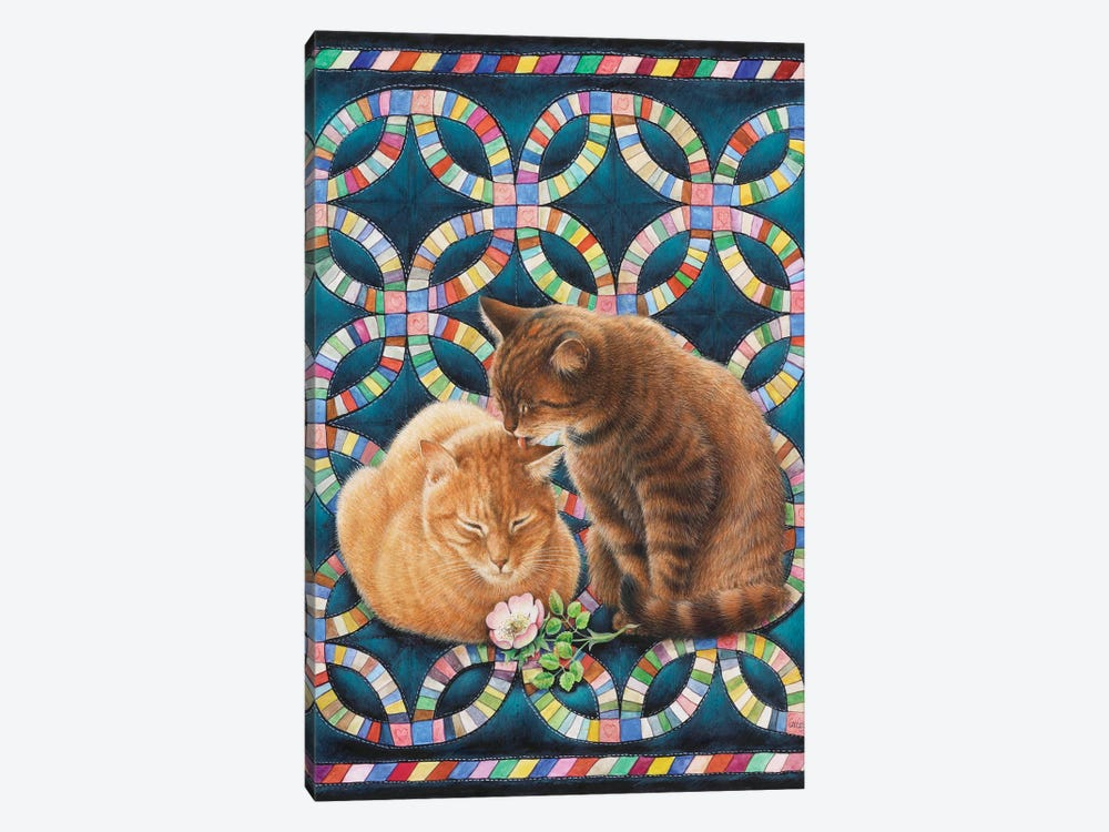 Valentine's Day With Spiro And Blossom by Ivory Cats 1-piece Canvas Artwork