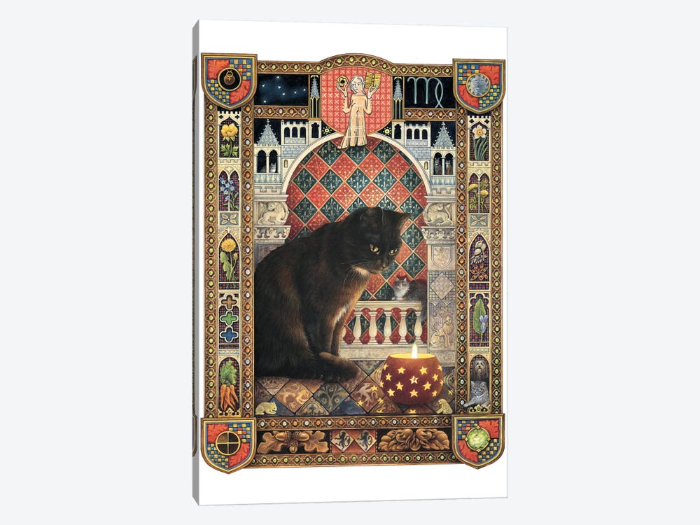 Virgo - Gabrielle (Gabby) by Ivory Cats 1-piece Art Print