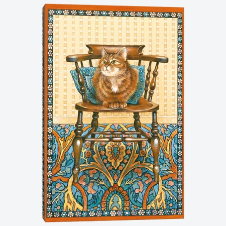 Blossom On Grandfather's Chair Canvas Print #IVR6} by Ivory Cats Art Print