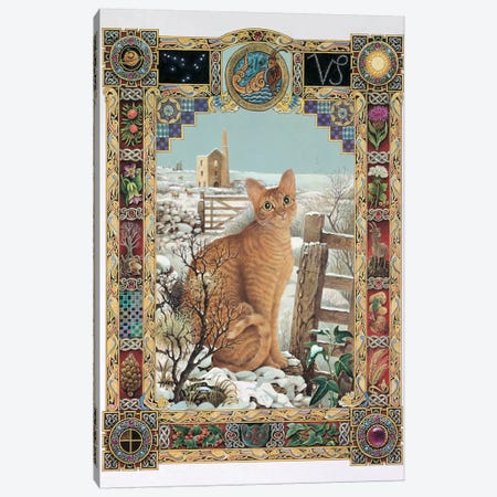 Capricorn - Muggley Canvas Print #IVR9} by Ivory Cats Canvas Art