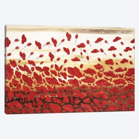 Red Poppies Canvas Print #IWA11} by Ilonka Walter Canvas Wall Art