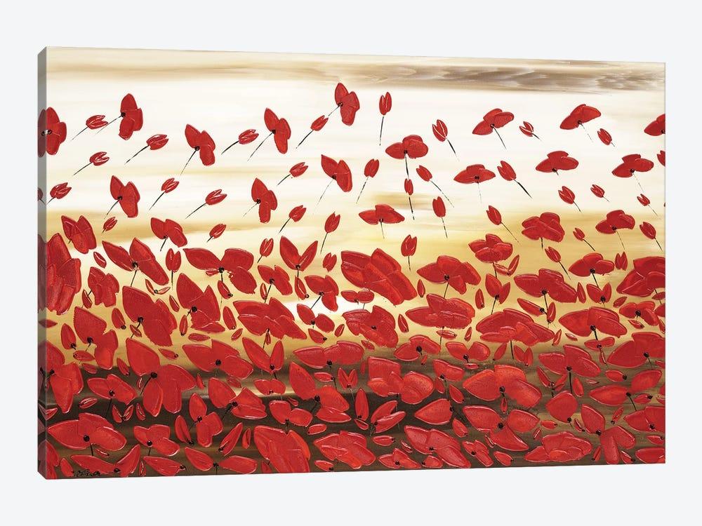 Red Poppies by Ilonka Walter 1-piece Canvas Art