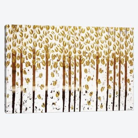 Golden Leaves Canvas Print #IWA7} by Ilonka Walter Canvas Wall Art