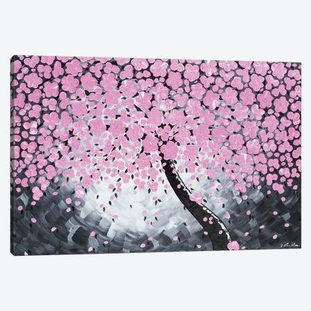 Pink Flower Canvas Print #IWA8} by Ilonka Walter Art Print