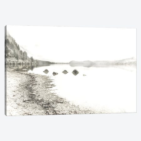 Taupe Lake Walk 3-Piece Canvas #IWE62} by Irene Weisz Art Print