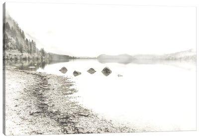 Taupe Lake Walk Canvas Art Print