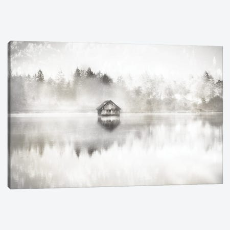 Taupe Serene Canvas Print #IWE65} by Irene Weisz Canvas Artwork