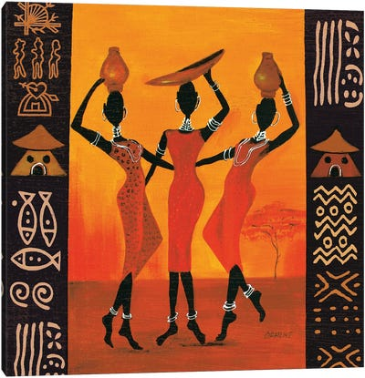 Three Gatherers Canvas Art Print