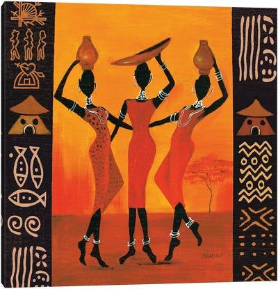 Three Gatherers Canvas Art Print