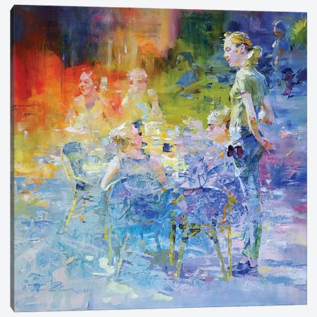 Cafe Mosaic III Canvas Print #IZH100} by Igor Zhuk Canvas Art