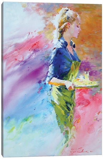 Cafe Mosaic V Canvas Art Print