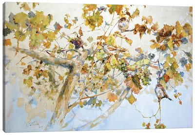 Grapes Tree Canvas Art Print