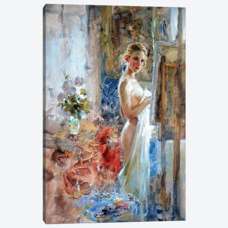 In Front Of The Picture Canvas Print #IZH19} by Igor Zhuk Canvas Artwork