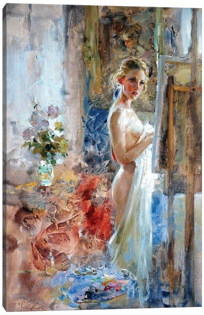 In Front Of The Picture Canvas Art Print