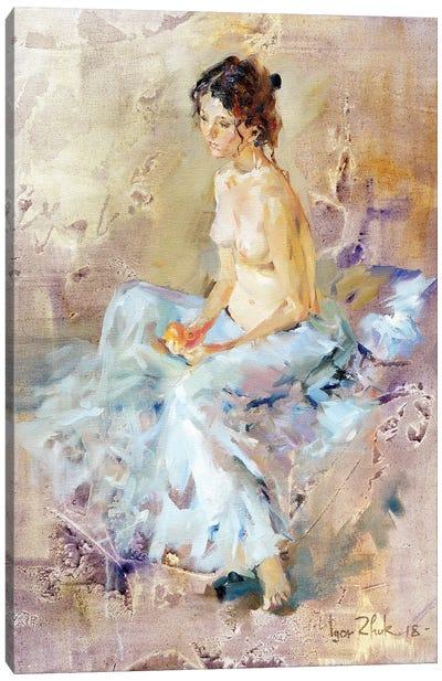 A Nude With Orange Canvas Art Print