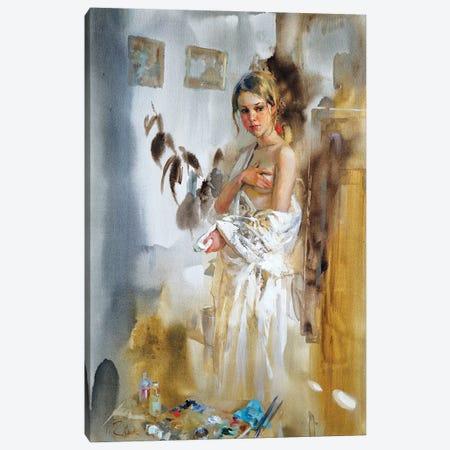 In The Artist's Studio Canvas Print #IZH20} by Igor Zhuk Canvas Print