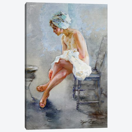 In The Bathroom Canvas Print #IZH21} by Igor Zhuk Art Print