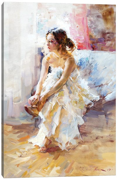 In White Canvas Art Print