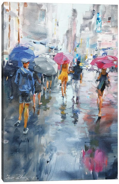 It's Raining Canvas Art Print