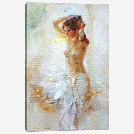 Model By The Window 3-Piece Canvas #IZH27} by Igor Zhuk Canvas Artwork
