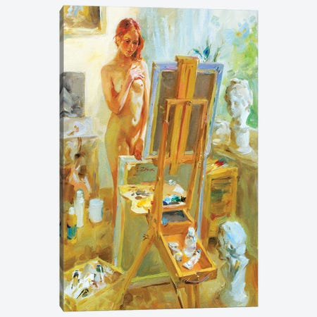 Model In Atelie Canvas Print #IZH28} by Igor Zhuk Art Print