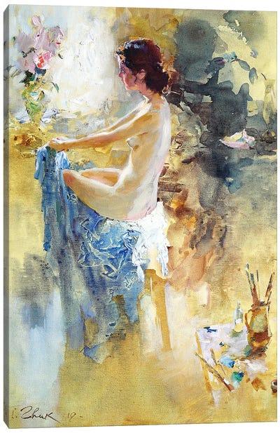 Nude Model In The Artist Studio Canvas Art Print
