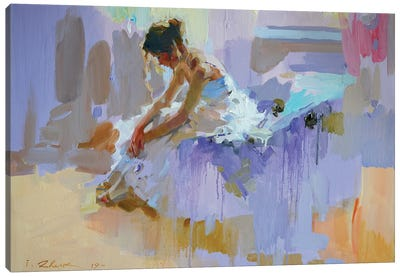 Purple Pause Canvas Art Print