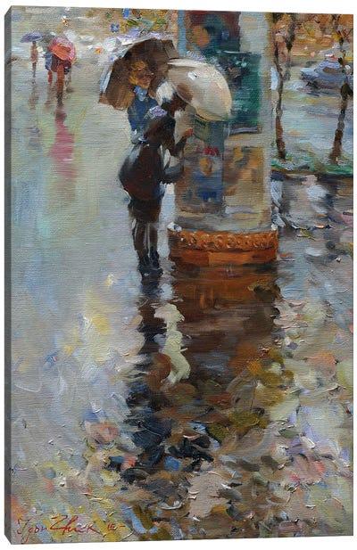 Rain In Kyiv Canvas Art Print