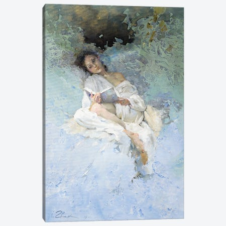 Reading Canvas Print #IZH37} by Igor Zhuk Art Print