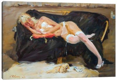 Sleeping Woman Canvas Art Print