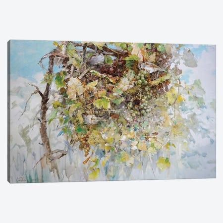 Sparrows In Grape Bush Canvas Print #IZH42} by Igor Zhuk Art Print