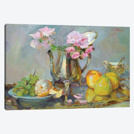 Still Life With Roses Canvas Print #IZH44} by Igor Zhuk Canvas Art