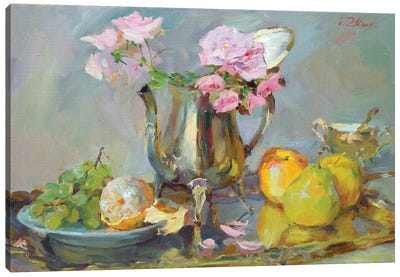 Still Life With Roses Canvas Art Print
