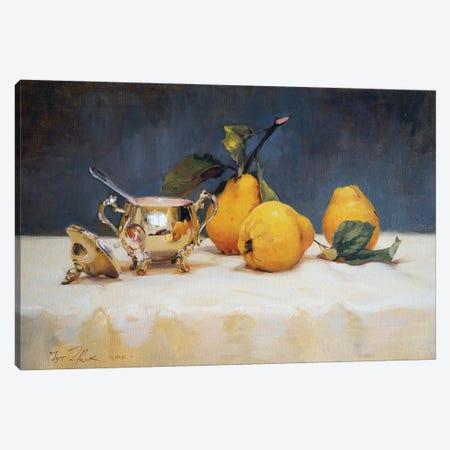 Still Life With Silver Sugar Bowl Canvas Print #IZH45} by Igor Zhuk Canvas Artwork